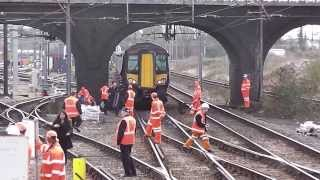 Pantograph strike at Bedford 05/03/14