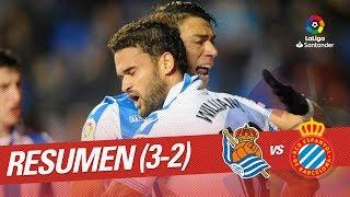 Resumen de Real Sociedad vs RCD Espanyol (3-2)
