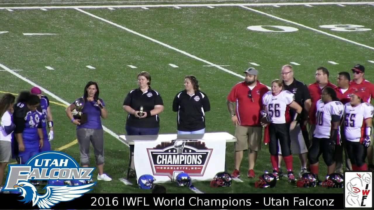 Utah Falconz 2016 IWFL Champions   Post Game Ceremony