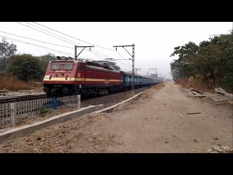 22944 Indore - Pune Express with a BRC WAP4-E in lead rushing towards its final destination