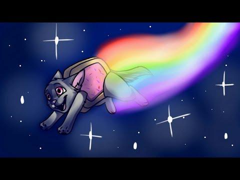 Вы не сможете забыть эту музыку! Нян кот Nyan Cat FLY! Пиксельарт! КАК СДЕЛАТЬ НЯН КОТА В МАЙНКРАФТЕ