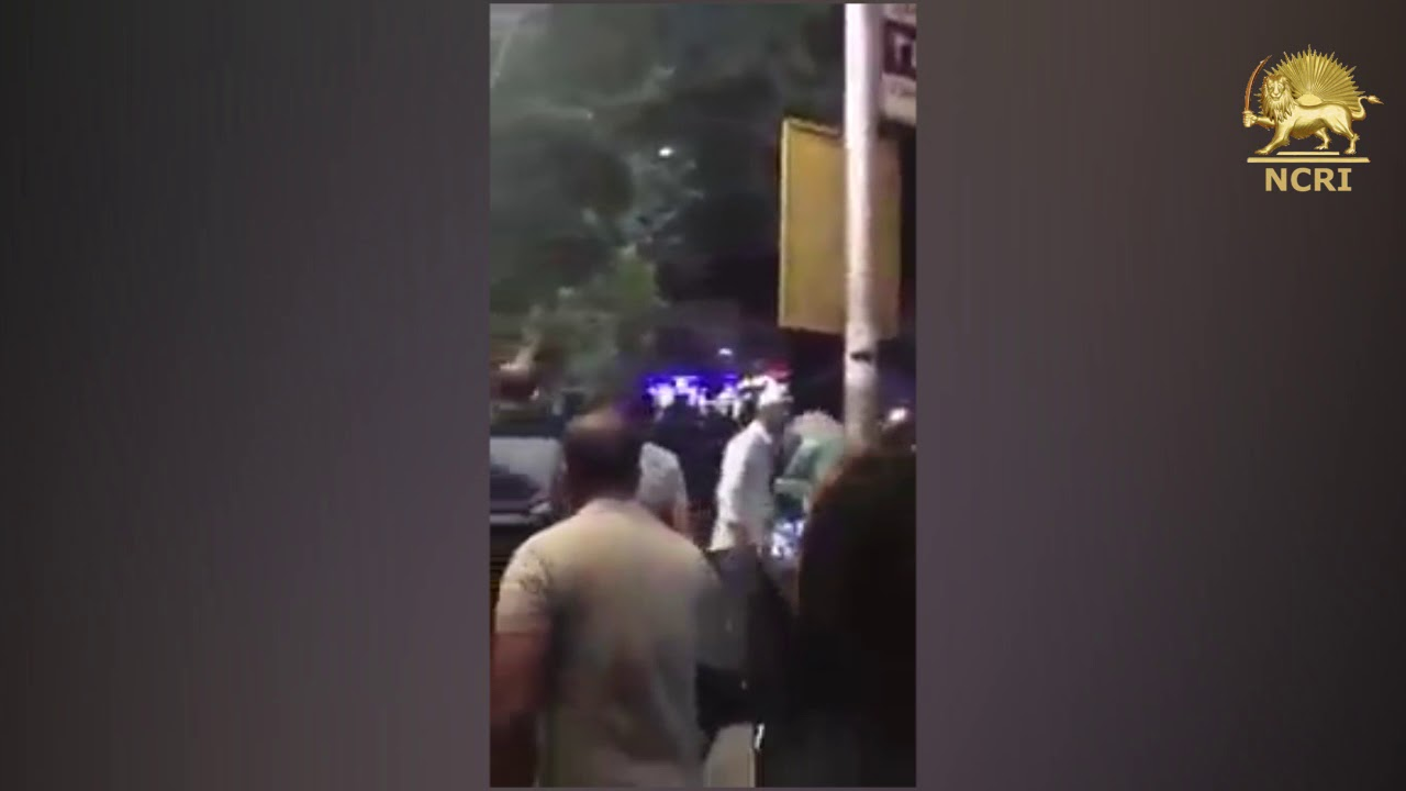 "KARAJ, #Iran. Aug 3, Protesters & especially the women chanting: ""Mullahs must get lost"""