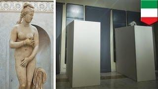 италия прикрывает обнажённые статуи в преддверии визита президента ирана