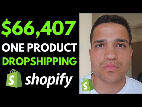 One Product Dropshipping: $66,407 Per Month Dropshipping ONE Product (Shopify Dropshipping 2019) thumbnail