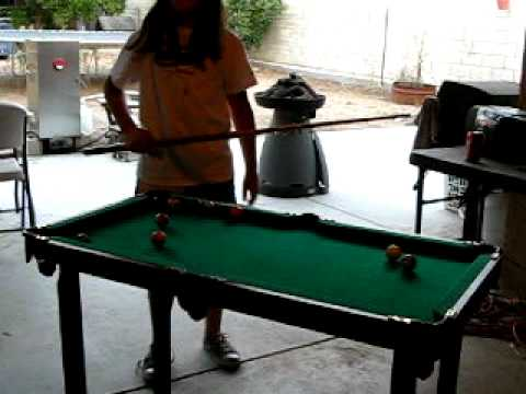 Portable Pool Table YouTube - Hathaway fairmont pool table