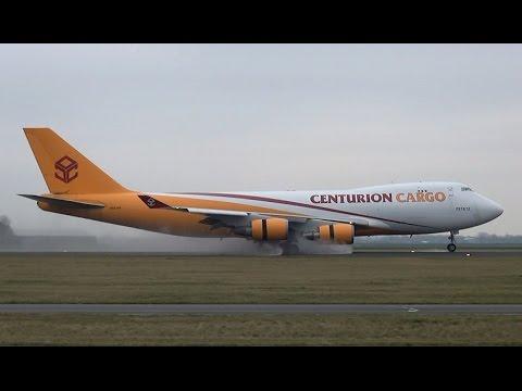 LOUD Landing Centurion Cargo 747-400F at Amsterdam Airport Schiphol (DutchPlaneSpotter)