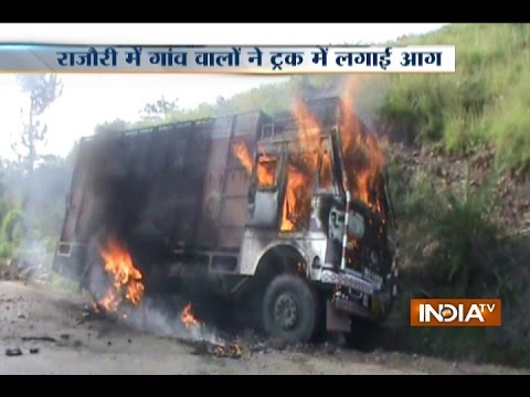 JK: Villagers in Rajouri Set Truck on Fire for Trafficking 200 Cattles