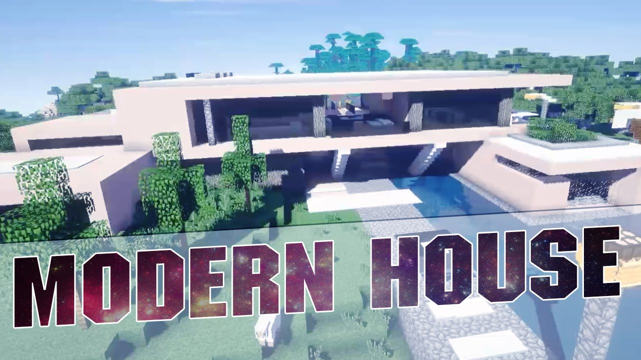 Minecraft Beautiful Modern House Cinematics Modern House with
