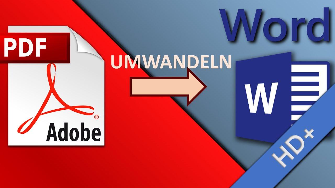 Pdf In Word Umwandeln Und Bearbeiten Kostenlos Und Ohne Software Online Hd 2019 Youtube