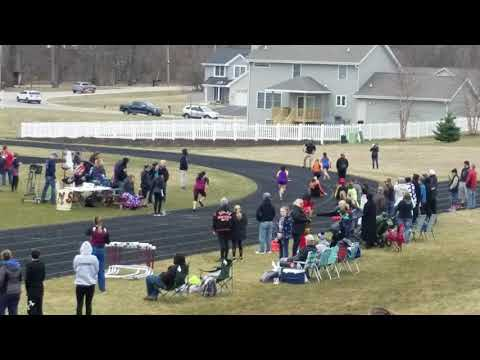 2018 8th grade girls 4x100m relay at Stephen Mack Middle School