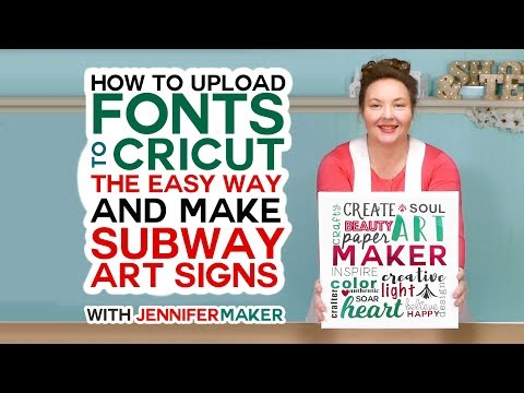 How to Upload Fonts to Cricut & Create a Subway Art Sign