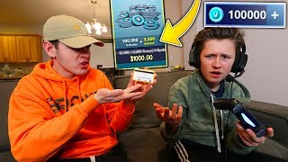 Little Brother Spends $1000 On FORTNITE With My Credit Card... *FREAKOUT* | David Vlas