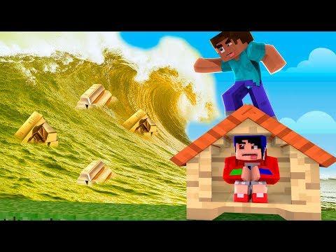 Minecraft: DESAFIO DA BASE 100% SEGURA CONTRA TSUNAMI DE OURO « Nitro »