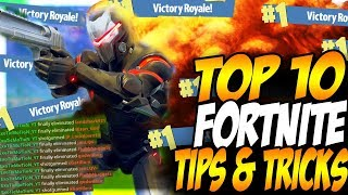 "TOP 10 FORTNITE TIPS & TRICKS TO GET MORE KILLS! | ""How To Get More Wins In Fortnite Tips"""