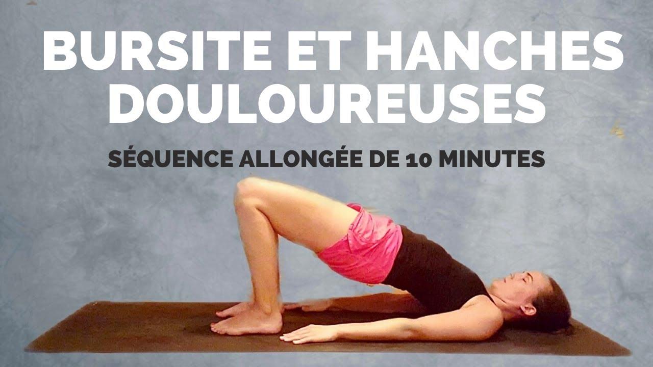 10 minutes d'exercices allongés pour la bursite et douleur ...