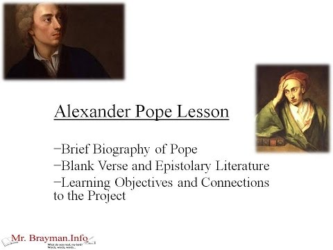 Alexander Pope Lesson