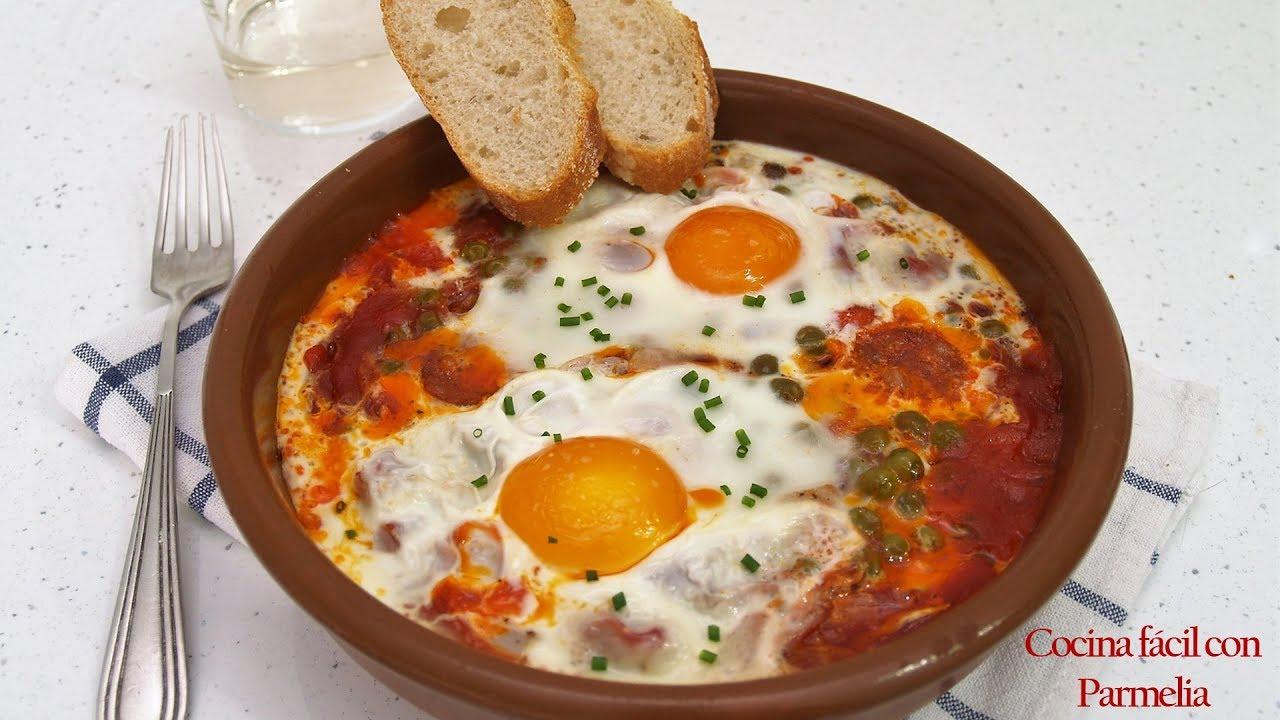 Huevos Al Plato En Microondas Receta Fácil Rápida Y Muy Rica