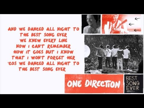 One Direction - Best Song Ever [Karaoke/Instrumental] with lyrics