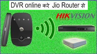 hikvision dvr online with jio wifi router | dvr online with jiofi | hikvision jio (Hindi)