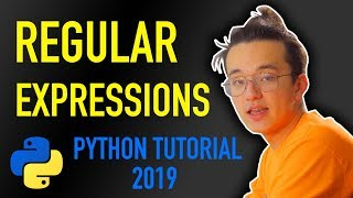 18 - how do I search for a pattern in text? regex mini project (Python tutorial for beginners 2019)