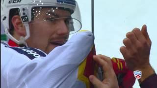 Томи Мяки застрял. Tomi Maki, KHL, ЦСКА - Йокерит, 11.01.2015
