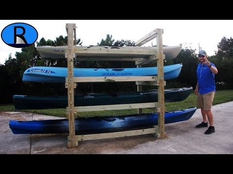 How To Build A Kayak Rack Tutorial Youtube