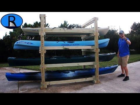 How To Build A Kayak Rack Tutorial Youtube