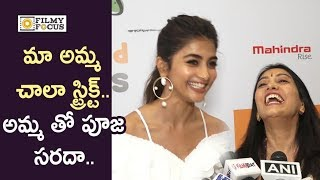 Pooja Hegde Funny Moments with her Mother Latha Hegde for a Photo Shoot
