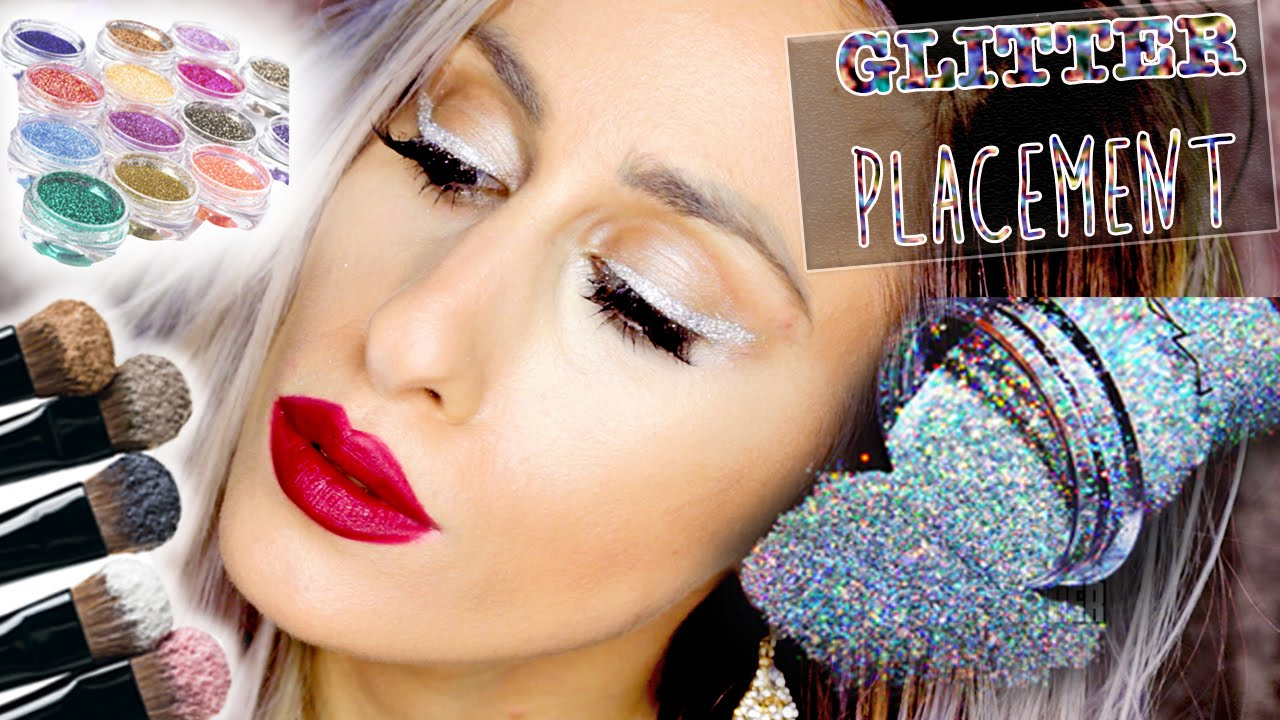 Where to Apply GLITTER // 10 EYE GLITTER PLACEMENTS // FREE Online ...
