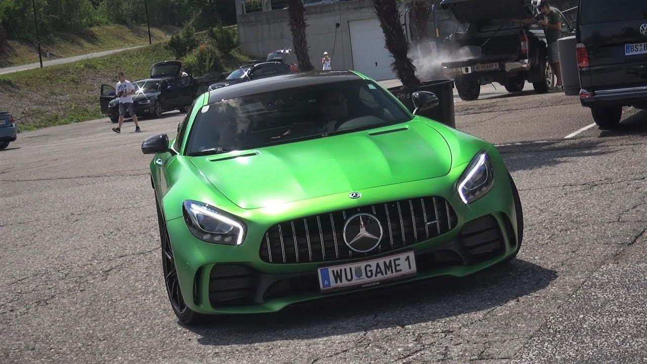2017 Mercedes AMG GTR - LOUD Renntech Downpipes, Exhaust Sound, Revs &  Accelerations