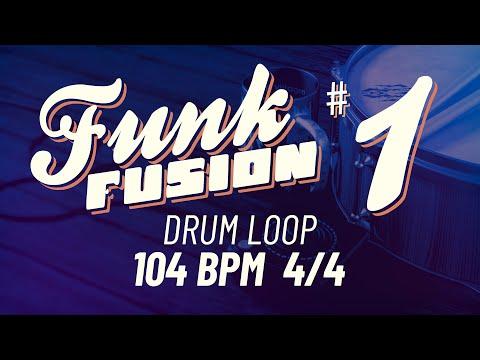 Funk Fusion Loop 1 - 104 BPM 4/4 - Drum Beat - Drum Loop - Backing track