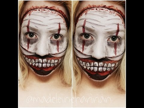 Twisty the Clown American Horror Story Makeup Facepaint Tutorial