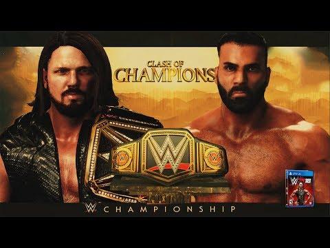 WWE 2K18 Clash Of Champions 2017 - AJ...