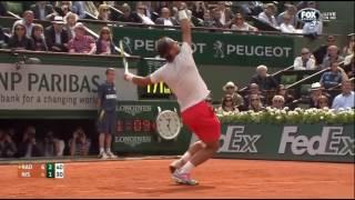 Nadal vs Nishikori - Roland Garros 2013 R4 Highlights HD