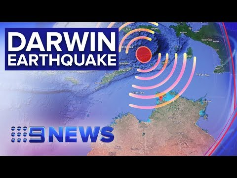 Buildings evacuated in Darwin as city rattled by 7.2 magnitude quake | Nine News Australia