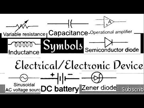 Important Electrical Electronic Symbols For Exam Youtube