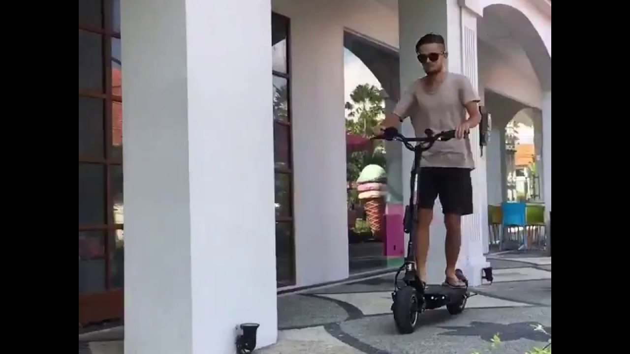 Test drive of Tesla scooter