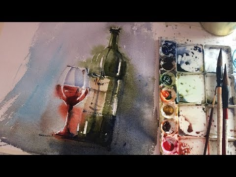 🔴 Live - Beginner Watercolor Exercise |  Free Your Mind