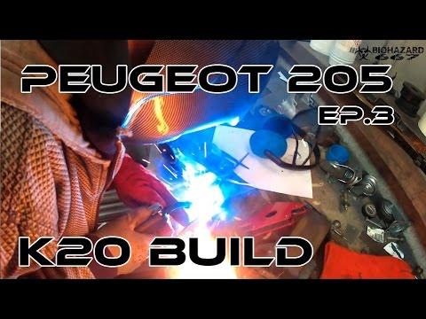 Projects Garage: K20 Peugeot 205 Ep.3 // Engine Mounts 2/4