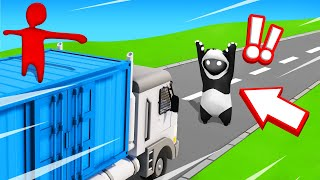 SAVE The PANDA From THE 500MPH TRUCK! (Gang Beasts)