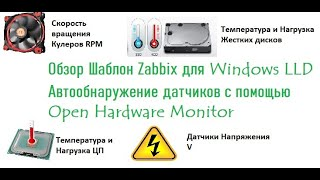 обзор Шаблон Zabbix для Windows LLD с помощью Open Hardware Monitor