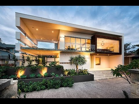 Modern house design with modern rectangular style for Modern house designs australia
