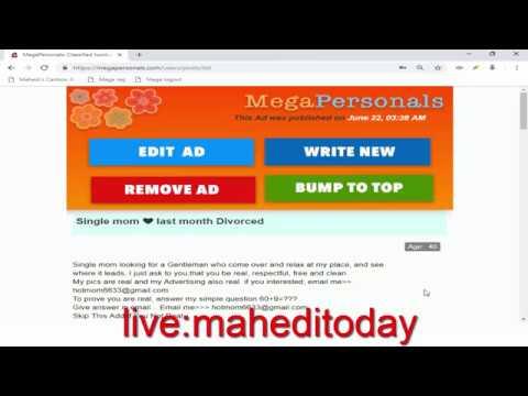 mega personals create account