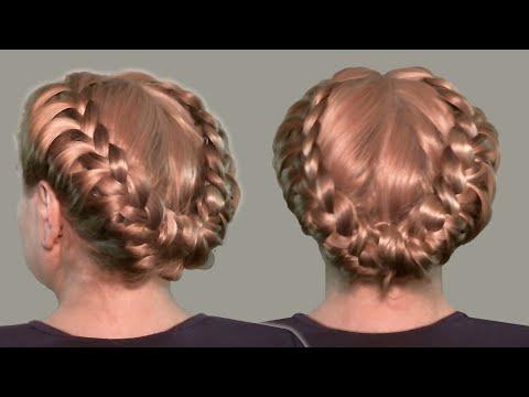 Прическа с Косами Видео Уроки Онлайн| Ретро Прическа| Hairstyles with braids video tutorial.