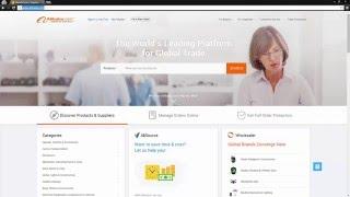 بابا البرنامج التعليمي - كيفية إنشاء و إعداد حساب جديد (Alibaba.com)