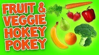 Hokey Pokey (Fruit and Veggie) - Kids Dance Songs - Children