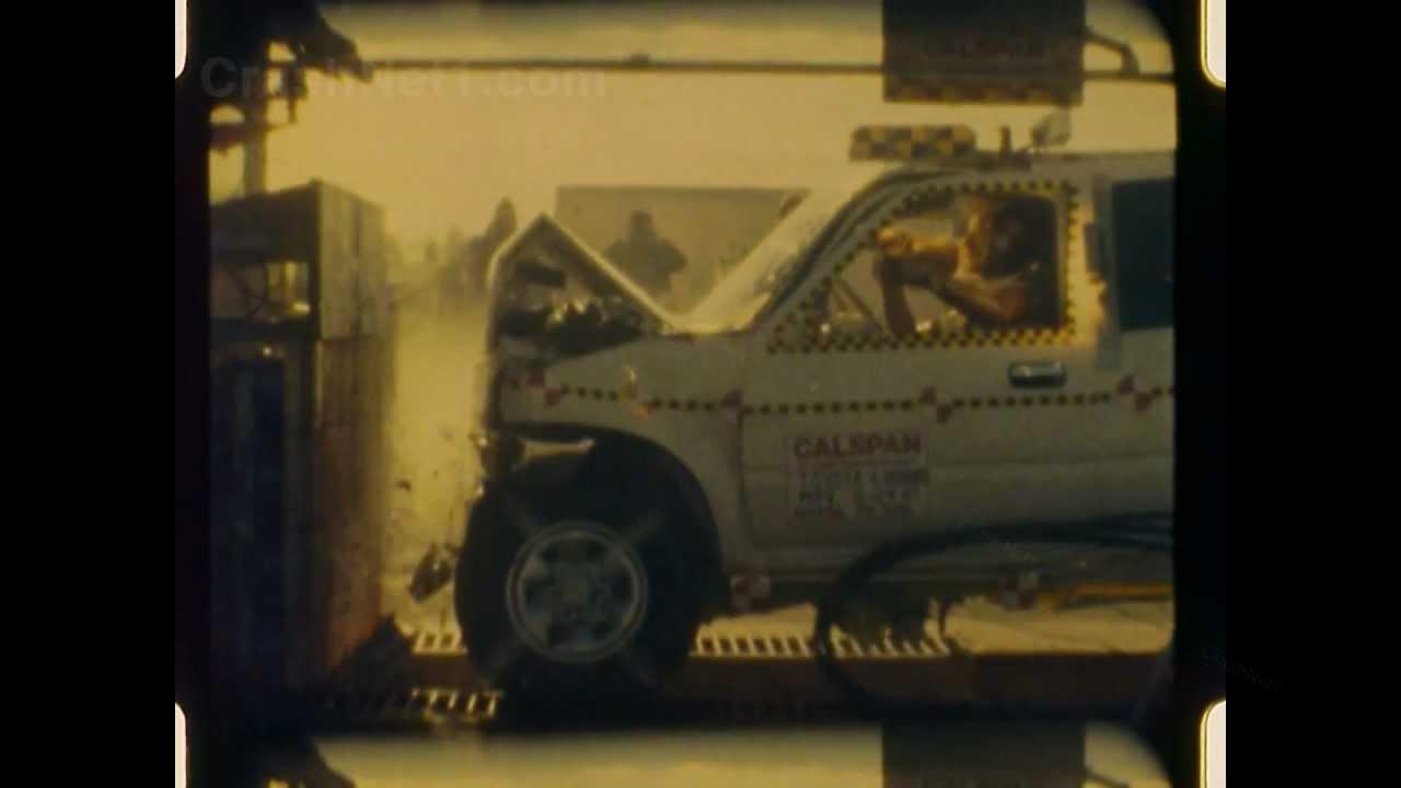 1990 Toyota 4runner Frontal Crash Test By Nhtsa Crashnet1 Youtube