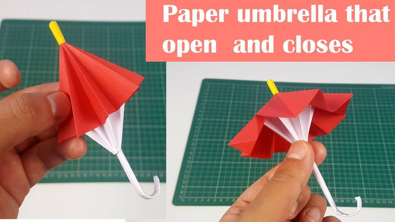 Origami Umbrella That Open And Closes / DIY / Origami Umbrella ... | 720x1280
