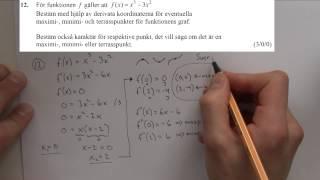 Matematik 3c - Lsning av nationella provet ht-2012 del B och C