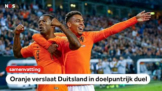 Oranje wint in Duitsland🧡   Samenvatting Duitsland - Nederland   EK-kwalificatie 2020